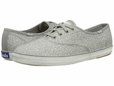 Keds Seltzer Dot Shoes Gray Canvas Lace Up Sneakers MISMATE 7 7.5 M NIB NEW