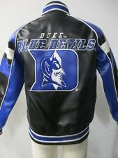 Duke Blue Devils Youth Small (8-10) Full Zip Faux Leather Jacket DUK 1