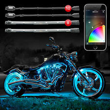 XKGLOW Bluetooth 10 Pod 8 Strip XKchrome App Control Motorcycle LED Light Kit