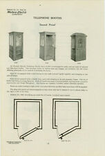 Catalog Page Ad Telephone Booth #1 Western Electric Baxter-Cookeville 1912