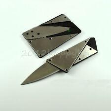 Neu 1 Stk Messer Kreditkarte Faltbar Angeln Camping Sicherheit Scharfe Klinge
