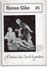 REVUE CIBA N°25 LA MEDECINE DANS L'ART DE LA PORCELAINE 1943 CERAMIQUE