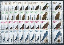Bund 754 - 757 postfrisch 10 Stück Greifvögel Vögel BRD Michel 80,00 Euro MNH