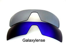 Galaxy Replacement Lenses For Oakley Oil Rig Blue&Titanium Polarized 2 Pairs
