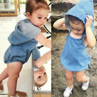 Fashion Baby Girl Infant Toddler One Piece Denim Romper Diaper Covers Bloomers