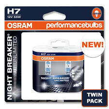 H7 Osram Night Breaker Plus Unlimited coche bombillas Brand New Twin Pack! 2 X H7