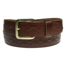 """3XL Embossed Real Leather 1.25"""" Inch Mens Womens 30mm Handmade Belts In England"""