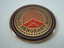 USMC Sgt Sergeant Challenge Coin Marine United States Corps Military NCO Sarge