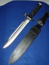 "NEW!!!  14""  M/AR   BAYONET  4/16 HUNTING CAMPING  KNIFE WITH SHEATH"