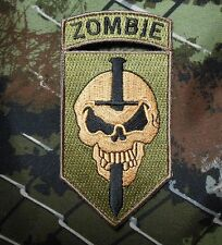 ZOMBIE SLAYER TACTICAL COMBAT KILLER TEAM OD GREEN MULTICAM IRON ON PATCH USA
