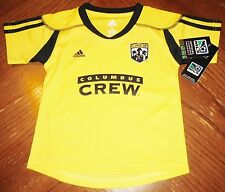 NWT New MLS Adidas COLUMBUS CREW Soccer Jersey Toddler  2T
