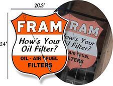 """C@@L 24"""" STICKER FRAM GASOLINE STATION DECAL FOR SIGN OIL FILTER"""