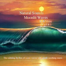 Natural Sounds Relaxing Moonlit Waves With Music 2 x CD Relaxation Sleep Stress