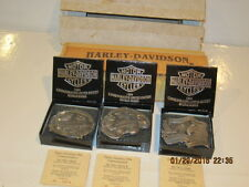 Harley-Davidson Motorcycles 1994 Commemorative Eagle Buckle Set # 2974 of 10,000