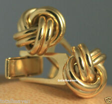 15mm LOVE KNOT Italian Solid 14K Yellow Gold Cufflinks 7.77g HEAVY Quality $1695