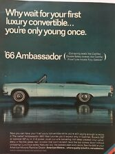 1966 AMC Ambassador Convertible - 11x14 Vintage Advertisement Print Car Ad LG55