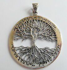 Sterling Silver (925) Wiccan  Tree  Of  Life  Pendant  ( 37 mm )  !!     New  !!