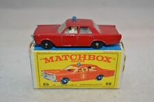 Matchbox 59 Fire Chief car in excellent plus boxed condition
