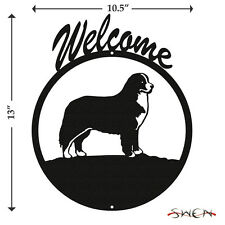 Bernese Mountain Dog Black Metal Welcome Sign *NEW*