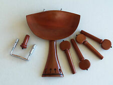 Old Violin Shop Fitting Set Boxwood French Style Old Flesch and Black Accents
