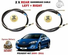 FOR PEUGEOT 407 ALL MODEL+ ESTATE 2004-2011 2x REAR LEFT + RIGHT HANDBRAKE CABLE
