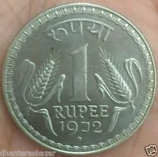 1 RUPEES 1972 10 GRAM GRAM COIN WITH STAR MARK