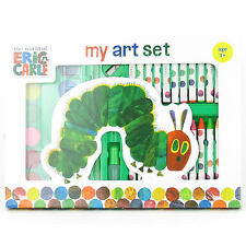 VERY HUNGRY CATERPILLAR ART SET PENCILS CRAYONS PASTELS ERIC CARLE SCHOOL GIFT
