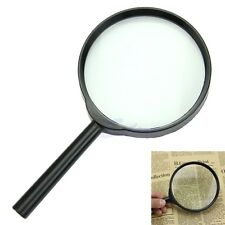 5X 100mm Held Hand Reading Magnifier Magnifying Glass Lens Jewelry Loupe Zoomer