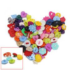 100 Bottoni in Plastica Creativo Design Unico Multicolore Cucito Casa Fai Da Te