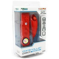 New Wii Controller Bundle - Nunchuk And Remote (Red)