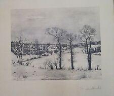Albert DRACHKOVITCH-THOMAS photogravure paysage signée  Yougoslavie P201