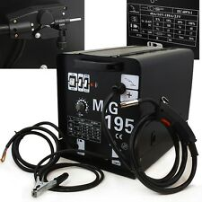 195 Amp MIG MAG 220v Welder Flux Stainless Aluminum Welding Machine Gas/ No Gas