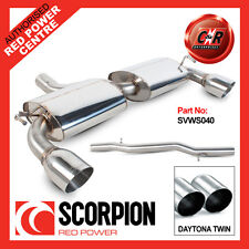 VW Mk4 Golf R32 03-05 Scorpion Exhaust Cat-Back Non Res 2x100mm Daytona SVWS040