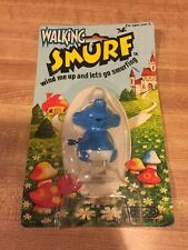 (TAS006818) - Walking Smurf Wind Me Up and Lets Go Smurfing - Galoob
