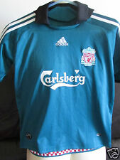 "Liverpool FC - Green Away Shirt - 2008/09 -  Size 28""-30"""
