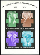 Togo C145a S/S, MNH. In Memory of Charles de Gaulle, President of France, 1971