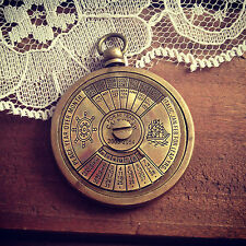 50 Year Perpetual Calendar Pendant Charm Antique Brass Nautical Vintage Style