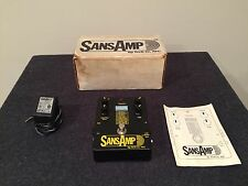 Tech 21 Made in USA SansAmp Original Guitar Effects Pedal W/Power Supply