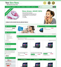 eBay Professional Design Listing Template and Store Layout Theme green nice