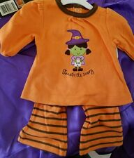 NWT JUST ONE YEAR CARTERS NEWBORN 2PC GIRLS WITCH BELL BOTTOM HALLOWEEN OUTFIT