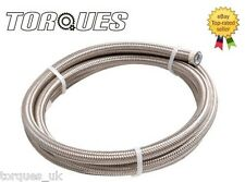 "AN -8 (11mm) 7/16"" Stainless Braided PTFE Fuel Hose 0.5m"