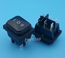 1Pcs Waterproof Rocker Switch DPDT (ON-OFF-ON) IP65 Rated Black Good Quality
