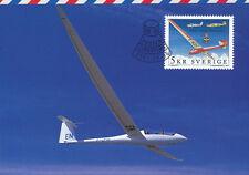 Sweden 2001 FDC - Maxi Card no 178 - Royal Swedish Aero Club Gliding