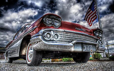 """Poster 24"""" x 36"""" Old Red Car"""