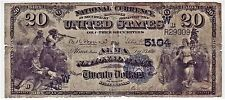 Extremely Rare Small Town Series 1882 Large $20 Alma, Kansas National Bank Note