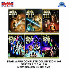STAR WARS COMPLETE COLLECTION 1-6  SERIES 1 2 3 4  5 6 NEW SEALED UK R2 DVD