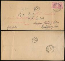JAMAICA WALES LONDON 1912 COVER MONTPELIER to BWLCH Y CIBAU REDIRECTED