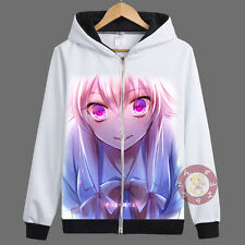 The Future Diary Gasai Yuno Zipper Jacket Cosplay Hoodie Unisex Coat#6-4-83