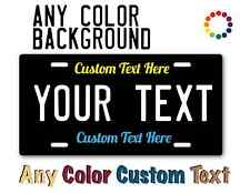 PERSONALIZED CUSTOM ALUMINUM LICENSE PLATE Car Tag Name Color High Quality