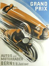 ADVERTISEMENT CAR AUTOMOBILE SPORT GRAND PRIX BERN 1947 ART POSTER PRINT LV355